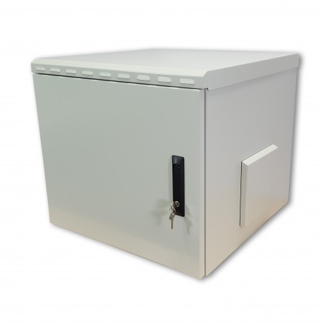 "Coffret mural 19"" étanche IP55, 9U, 600X450mm - SafeBox"