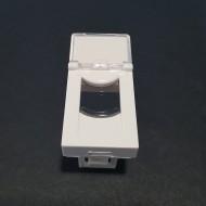 Plastron 45X22.5mm Volet de protection avec Porte Etiquette