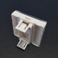 Plastron 45X45mm Porte étiquette, Volet de protection