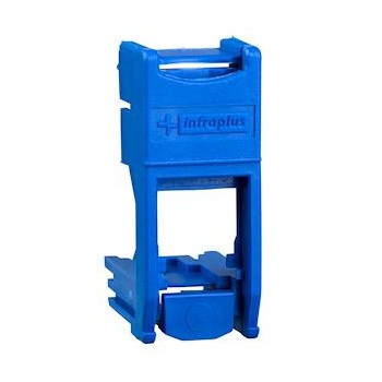 Support RJ45 22,5x45mm bleu