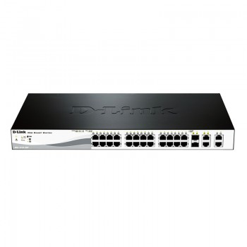 Switch SMART 24 10/100 PoE at 193W + 2 SFP & 2 GE