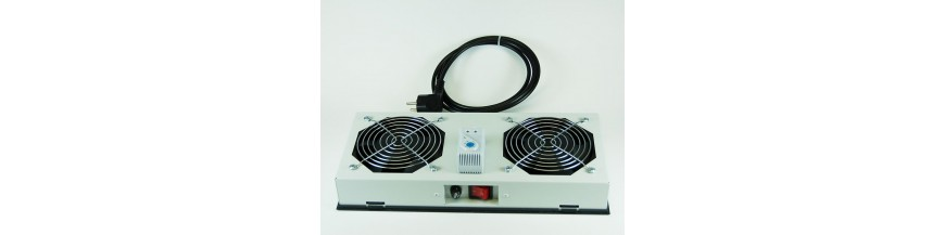Kit de ventilation Kit de ventilation pour baie et coffret informatique Accessoires Cobox Kit de ventilation, 2 fans, On/Off, T