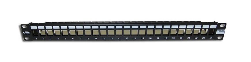 24P Cat6 Équipé 24P Cat6 Équipé Panneau de brassage Cobox Panneau de brassage 24 ports, Cat. 6 FTP, Equipé