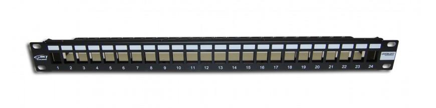 24P Cat6a Vide 24P Cat6a Vide Panneau de brassage Cobox Panneau de brassage 24 ports, Cat. 6a Vide