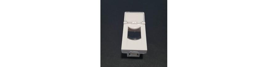 45X22.5mm Porte Etiquette Plastron 45 x 22.5 mm Volet Transparent, Porte etiquette Plastron RJ45 Cobox Plastron 45x22.5mm Porte