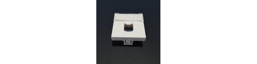 45X45mm Porte Etiquette Plastron 45X45mm Volet de Protecion, Porte étiquette Plastron RJ45 Cobox Plastron 45X45mm Porte étiquet