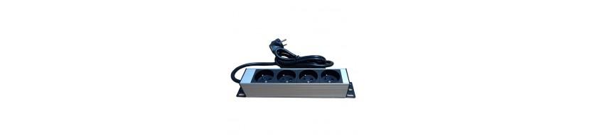 5 prises + interrupteur PDU, Bandeau de prises électrique 5 prises, 1U, 19 '' , avec interrupteur lumineux PDU Cobox Bandeau de