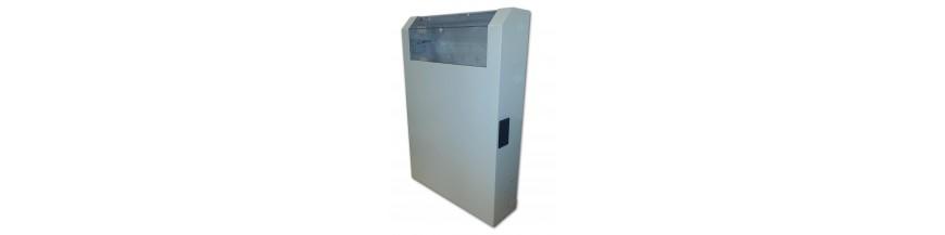 8U - 530x760x150mm Coffret mural 19 pouces, 8U, (5U vertical + 3U horizontale) Lande Slimbox P : 760 mm Slimbox Cobox Coffret m