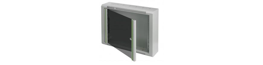 Minibox Coffret mural 19 pouces Minibox, 6U, 9U, 12U, P: 150mm, coffret VDI, coffret multimedia Coffrets Cobox Mini coffret inf