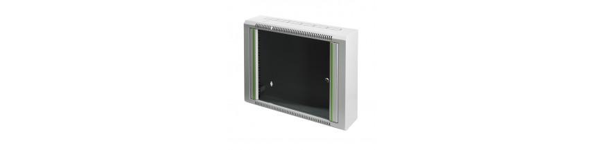 Minibox 9U, P : 150mm Coffret mural 19 pouces 6U, P: 150mm, coffret VDI, coffret multimedia Minibox Cobox Mini Coffret informat