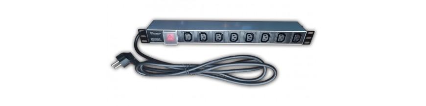 """8 prises - IEC320 - C13 PDU, Bandeau de prise électrique, 1U, 19 """", 8 prises - IEC320 - C13 10A, 250V PDU Cobox Bandeau de pris"""
