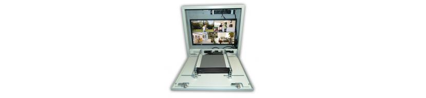 """Kit de Coffret mural vs-box 1U, Ecran 22"""" + PDU 4 pc"""