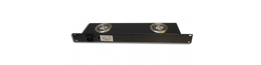 Eclairage baie Eclairage baie 19 pouces pour baie de brassage, baie serveur, coffret informatique Accessoires Cobox Éclairage L