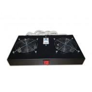 Kit de ventilation, 2 fans, On/Off, Thermostat pour coffret Elegant